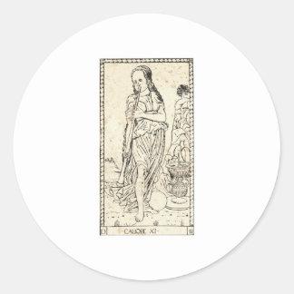 MUSE Calliope Kalliope philosophy philosopy Classic Round Sticker