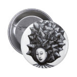 Muse in a shell (surrealism) 2 inch round button