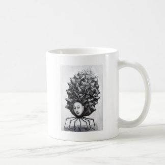 Muse in a shell (surrealism) coffee mug