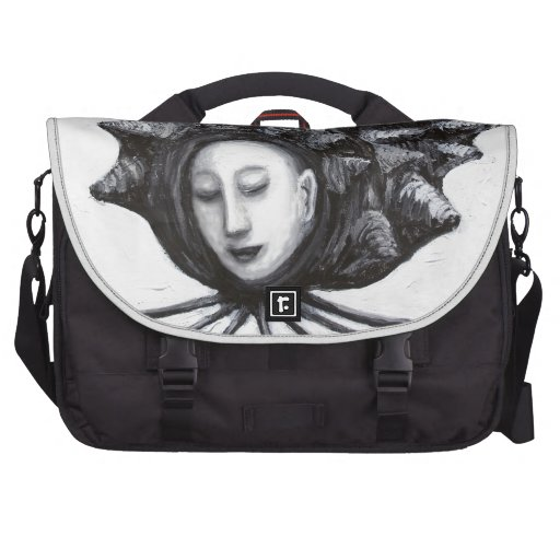 Muse in a shell (surrealism) laptop messenger bag
