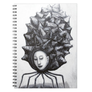 Muse in a shell (surrealism) notebook