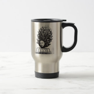 Muse in a shell (surrealism) travel mug