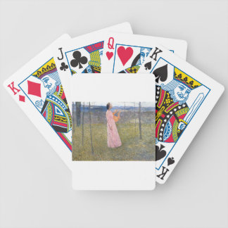 Muse in the Fields by Henri Martin Bicycle Playing Cards
