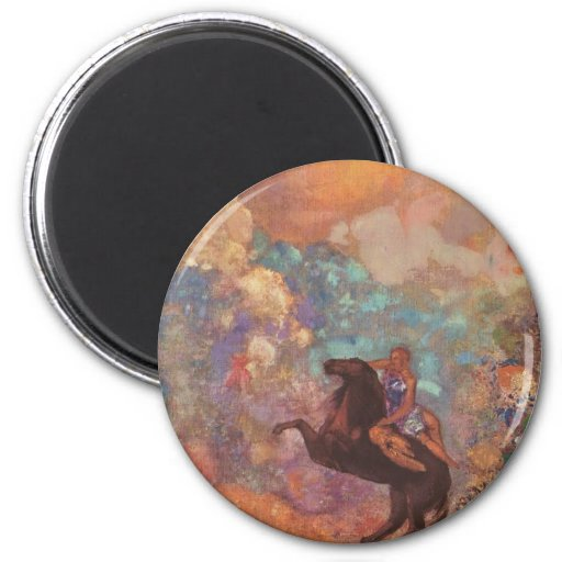 Muse On Pegasus 2 Inch Round Magnet