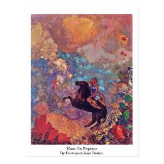 Muse On Pegasus By Bertrand-Jean Redon Postcard