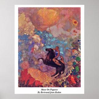 Muse On Pegasus By Bertrand-Jean Redon Poster