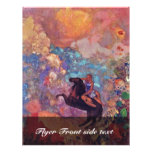 Muse On Pegasus By Redon Odilon (Best Quality) Full Color Flyer