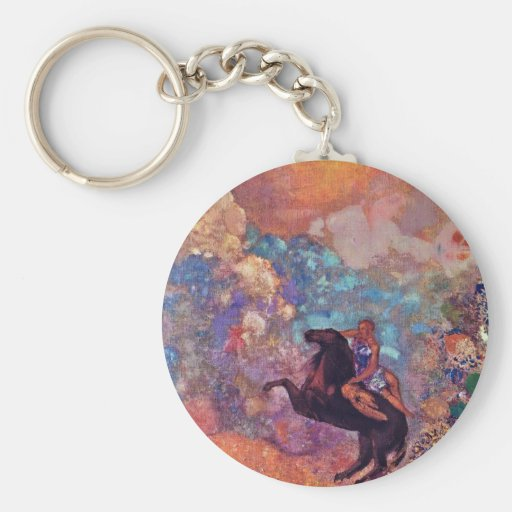 Muse On Pegasus By Redon Odilon (Best Quality) Keychains