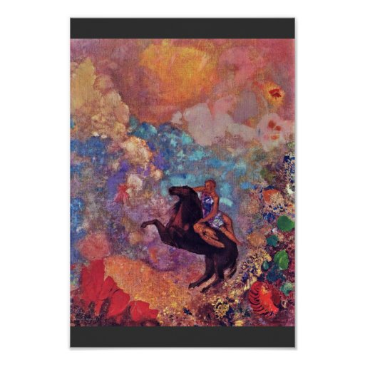 Muse On Pegasus By Redon Odilon (Best Quality) Poster