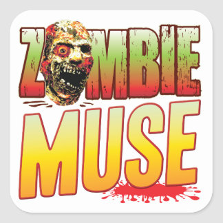 Muse Zombie Head Square Stickers
