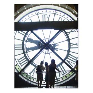Museé d'Orsay Clock Postcard
