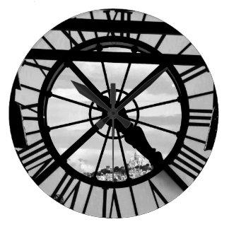 Musée d'Orsay con Sacré Coeur Reloj Redondo Grande