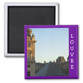 Musee du Louvre 2 Inch Square Magnet