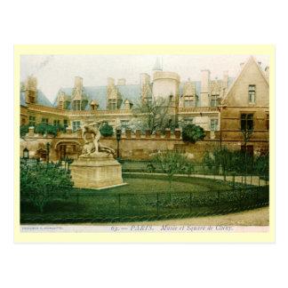 Musee et Square de Cluny, Paris, France Vintage Postcard