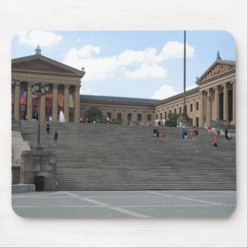 Museo de arte 2 de Philadelphia Tapete De Ratones