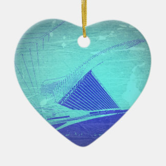 Museo de arte de Milwaukee Adorno Navideño De Cerámica En Forma De Corazón