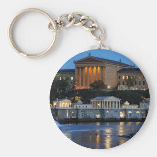 Museo de arte de Philadelphia y trabajos de agua Llavero Redondo Tipo Pin