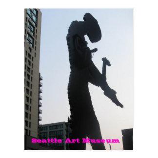 Museo de arte de Seattle - martilleo del hombre Postal