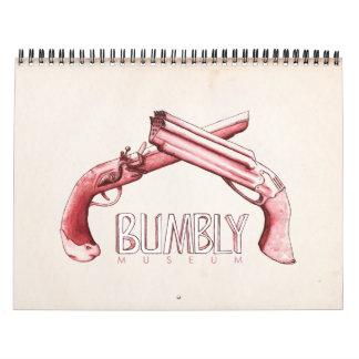 Museo de Bumbly - pistolas internacionales Calendario De Pared