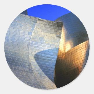 Museo de Guggenheim, Bilbao Pegatina Redonda