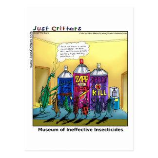 Museo de insecticidas ineficaces postal