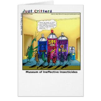 Museo de insecticidas ineficaces tarjeta de felicitación