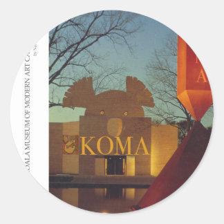 Museo de la koala pegatina redonda