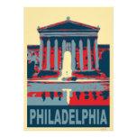 Museo de Philadelphia en azul Anuncios Personalizados