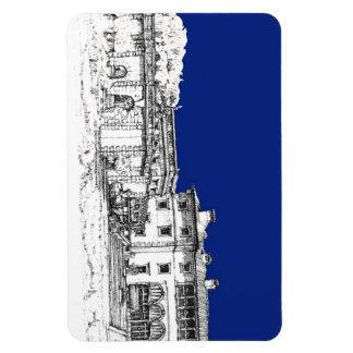 Museo de Vizcaya en azul Imán De Vinilo