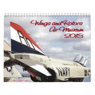 Museo del aire de las alas y de los rotores calendario