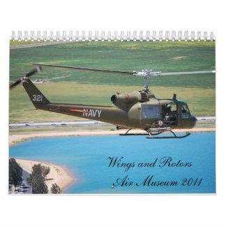 Museo del aire de las alas y de los rotores calendario de pared