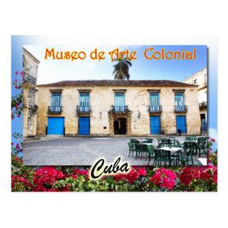 Museo del arte colonial, La Habana, Cuba Postal