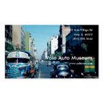 Museo del auto del vintage tarjetas de visita