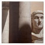 Museo del capitolio, cara del busto del emperador  azulejos ceramicos