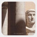 Museo del capitolio, cara del busto del emperador calcomanías cuadradass personalizadas
