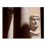 Museo del capitolio, cara del busto del emperador  tarjetas postales