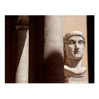 Museo del capitolio cara del busto del emperador tarjetas postales