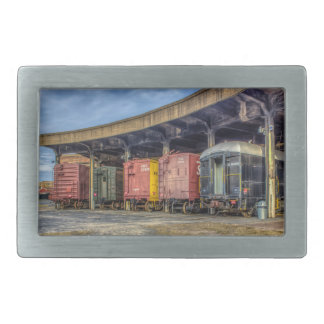 Museo del ferrocarril hebillas cinturon rectangulares