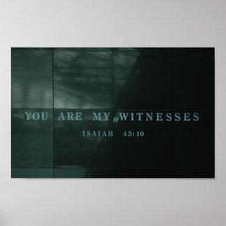 Museo del holocausto de Isaías 43,10 de los testig Póster