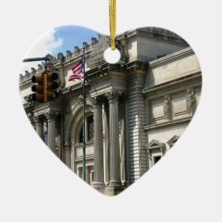 Museo del metropolitano de NYC Adorno Navideño De Cerámica En Forma De Corazón