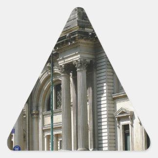 Museo del metropolitano de NYC Pegatina Triangular
