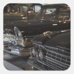 Museo del motor de Letonia, Riga, Riga, coches del Calcomanías Cuadradas Personalizadas