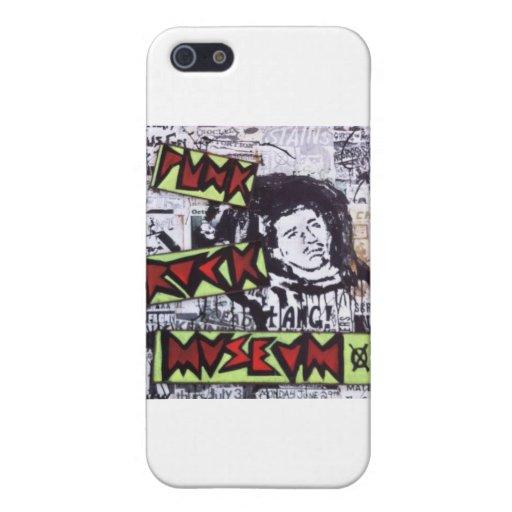 Museo del punk rock por el barro iPhone 5 protectores