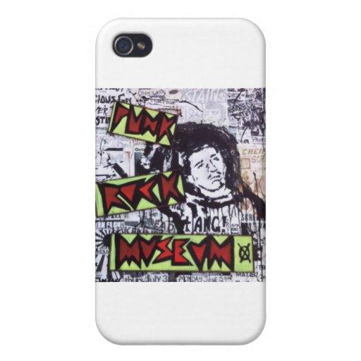 Museo del punk rock por el barro iPhone 4 protectores
