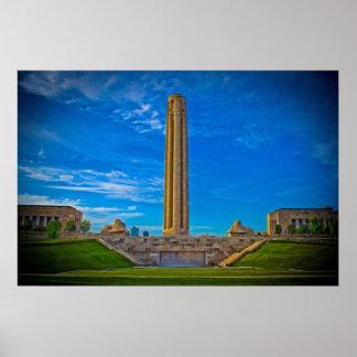 Museo Kansas City Missouri de la Primera Guerra Mu Póster