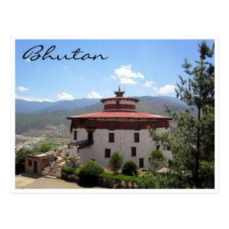 museo redondo de Bhután Tarjetas Postales