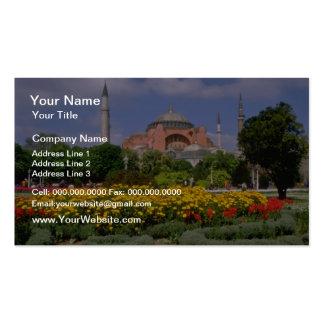 Museo rojo de Hagia Sophia, flores de Turquía Tarjetas De Visita