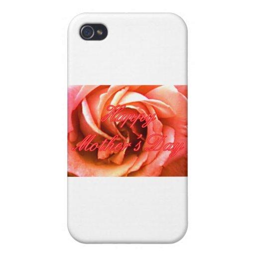 MUSEO rosado rojo feliz Zazzle de RoseThe del día  iPhone 4 Protectores