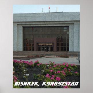Museo soviético, Bishkek Frunze, Kirguistán Póster