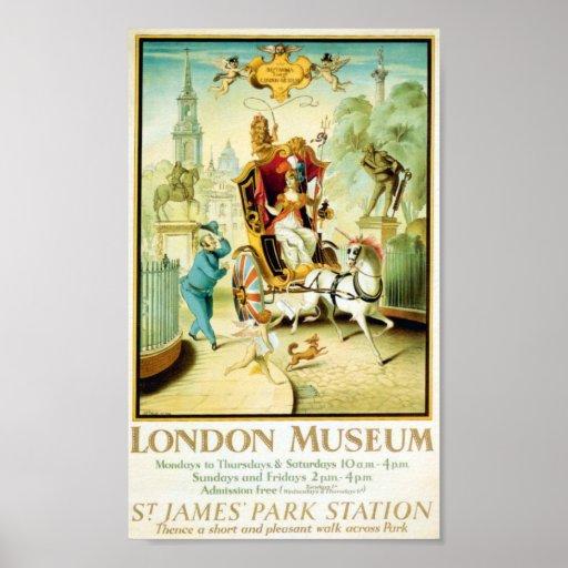 Museo subterráneo 1908-1933 de Londres Londres Póster
